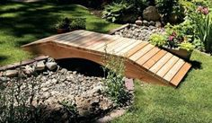 The wooden pergola is a good solution to add beauty to your garden. If you are not ready to spend thousands of dollars for building a cozy pergola then you may devise new strategies of trying out something different so that you can re Garden Stones, Garden Paths, Garden Beds, Landscape Design, Garden Design, Pond Design, Wooden Walkways, Wooden Pathway, Classic Garden