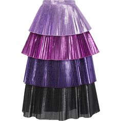 Skirts For Women – My WordPress Website Pop Fashion, Skirt Fashion, Fashion Dresses, Fashion Design, High Skirts, Pleated Skirts, Gigi Dress, Metallic Pleated Skirt, Purple Skirt