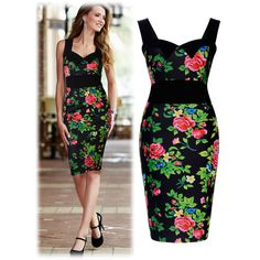 Miusol Hawaiian Floral Tropical Print Women's Stretch Bodycon Summer Prom Party Dresses