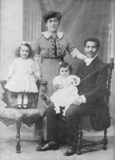 """Joseph Laroche and Juliette Lafargue were an intershade couple aboard the Titanic. As the ship sank, Joseph stuffed his coat with money & jewelry, took his pregnant wife and children to the deck and managed to get them into a lifeboat. He gave the coat to his wife, and said: ""Here, take this, you are going to need it. I'll get another boat. God be with you. I'll see you in New York."" Joseph died in the sinking. He was the only victim of African Descent on the Titanic."""