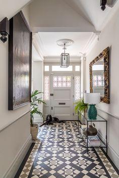 Hall Tiles, Tiled Hallway, Hallway Flooring, Modern Hallway, Victorian Hallway Tiles, Edwardian Hallway, Entrance Hall Decor, Hallway Ideas Entrance Narrow, House Entrance