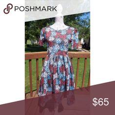 LuLaRoe Amelia Rose Print Dress NWT!!! ONLY WASHED PER LULAROE INSTRUCTIONS. NEVER WORN! LuLaRoe Dresses