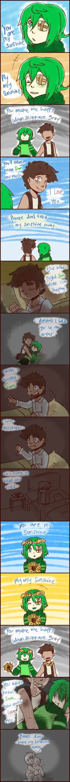 ~You are my Sunshine,Sam...~ Gahhh!!! The feels...( TДT) Septiceye Sam and Tiny box Tim!