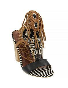 Shoes | Sandals | Yates Chunky Fringe Sandals | Hudson's Bay