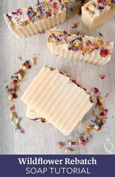 Wildflower Rebatch Soap Tutorial www soapqueen com Savon Soap, Soap Tutorial, Homemade Soap Recipes, Homemade Paint, Soap Packaging, Cold Process Soap, Soap Molds, Home Made Soap, Handmade Soaps