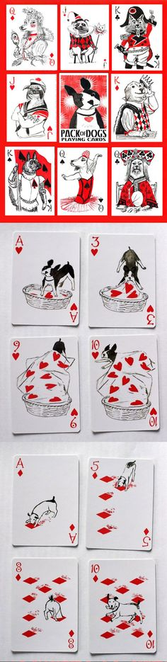Pack of Dogs playing cards ( http://www.artiphany.com/products/pack-of-dogs-playing-cards# )