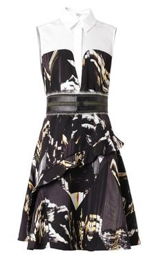 Olivia Palermo's #LFW Pin Picks: Try this sleeveless mountain-print dress by Kenzo to recreate the look from Preen SS '15.