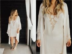 Brogen Jessup Photography   Wedding Robe lace and silk