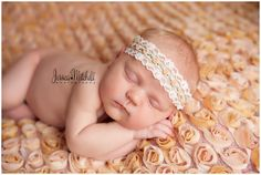 crocheted flower and lace headband!