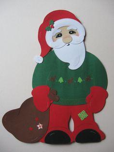 ** Weihnachtsmann HoHoHo mit Sack ** Disney Characters, Fictional Characters, Christmas Ornaments, Disney Princess, Holiday Decor, Printable, Ebay, Santa Clause, Christmas Decorations