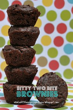 A Little Sugary Goodness: Bitty Two Bite Brownies