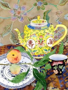 유 Still Life Brushstrokes 유 Nature Morte Painting by Gabby Malpas Food Illustrations, Illustration Art, Tee Kunst, Tea Art, Arte Popular, Still Life Art, Chinoiserie, Oeuvre D'art, Painting Inspiration