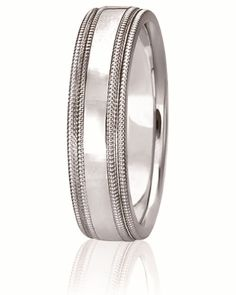 Double Milgrain Comfort Fit Wedding Band Available