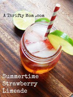 Strawberry Limeade Easy Summer drink