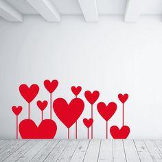 "Wallsticker su Adesiviamo ""Hearts like flowers"" http://ow.ly/IINyW"