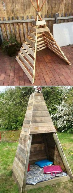 21 ways to use wooden pallets your kids will love! - im freien diy projekte - Pallet Pallet Crafts, Diy Pallet Projects, Outdoor Projects, Wood Projects, Woodworking Projects, One Pallet Ideas, Pallet Kids, Pallet Home Decor, Diy Projects For Men