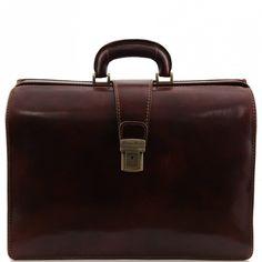 Canova - Leather Doctor bag briefcase 3 compartments - BAGS - Men - Genuine Leather Verapellestore.com