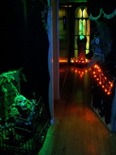 1000 images about halloween props i made on pinterest for Haunted house hallway ideas