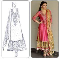 soha ali khan wedding mehndi outfit - sticking to the Ritu Kumar tradition!