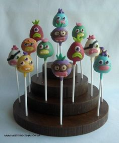Moshi Monster Cake Pops  Cake by welcometreats