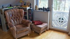 Vieux fauteuil cuir