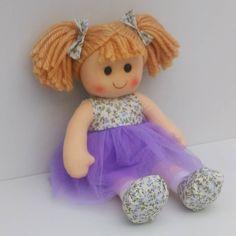 Purple floral bud Molly Dolly rag doll #linzyo #tutudress #toocute #prettiestlittlestitch #ragdoll
