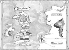 Mapa Uma Corte de Espinhos e Rosas - A Court of Thorns and Roses (Sarah J. Maas)