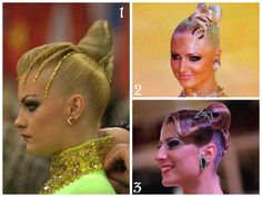 Hair Inspiration for Ballroom Dancing #hair #dance #style #ballroom