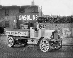 Grove Lime Co Coal Truck & Driver 1920s 8x10 Reprint Of Old Photo