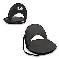 Picnic Time® Green Bay Packers Oniva Portable Reclining Seat in Black