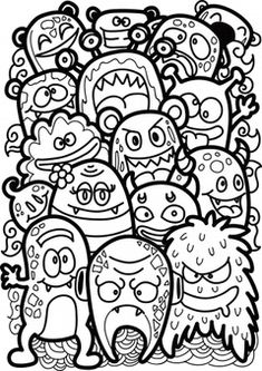 Cute Doodle Art, Doodle Art Designs, Doodle Art Drawing, Doodle Art Simple, Doodling Art, Easy Doodles Drawings, Cool Doodles, Cool Art Drawings, Doodle Monster
