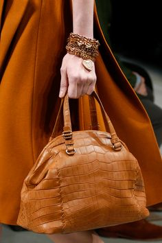 Bottega Veneta Fall 2013 Ready-to-Wear Collection - Vogue Beautiful Handbags, Beautiful Bags, Bronze, Best Bags, Bottega Veneta, Purses And Handbags, Fashion Bags, Bucket Bag, Autumn Fashion