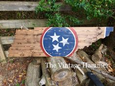 A personal favorite from my Etsy shop https://www.etsy.com/listing/483911425/tennessee-state-flag-hand-painted-wood