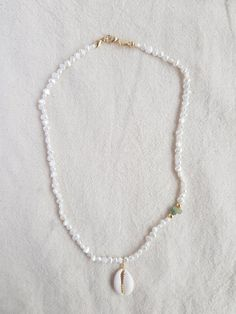 Your marketplace to buy and sell handmade items. - CIAO AMORE necklace freshwater pearls white with gold-plated Seed Bead Jewelry, Bead Jewellery, Cute Jewelry, Beaded Jewelry, Jewelery, Jewelry Accessories, Jewelry Design, Beaded Bracelets, Etsy Jewelry