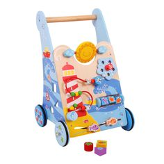 BigJigs Marine wooden baby walker with lots of activities to entertain Educate Toddler Toys, Baby Toys, Kids Toys, Baby Activity Toys, Infant Activities, Marine Baby, Baby Play Areas, Push Toys, Toys Uk