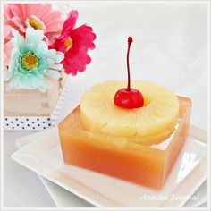 guava layer,,,just skip the pineapple? yum; Pineapple Jelly   Anncoo Journal - Come for Quick and Easy Recipes