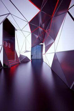 espace ampoule led, dalle faux plafond led, plafonnier led design original