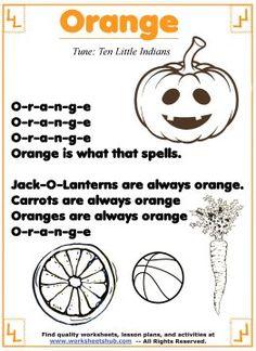 Learn The Color Orange
