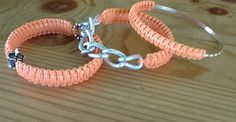 "Set of 3 ""Royal Princess"" Peach Sherbert Arm Candy Bangle Bracelets by KashmereCouture on Etsy"