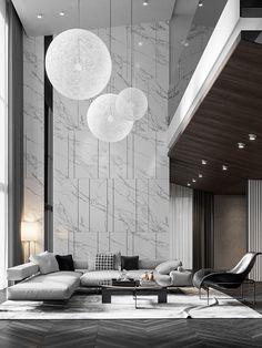 Dream Home Design, Modern House Design, Interior Design Living Room, Living Room Designs, Formal Living Rooms, High Ceiling Living Room Modern, Rustic Home Interiors, Luxury Living, Luxury Interior Design