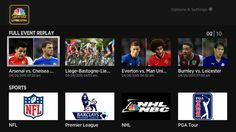 """You can find NBC Sport Live Extra under """"Sports"""" in the U.S. Roku Channel Store now on Roku players and Roku TV models.    NBC Sports Roku replay sports categories"""