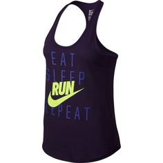 5f12e20c9703 Nike Women s Eat Sleep Run Repeat Running Tank Top