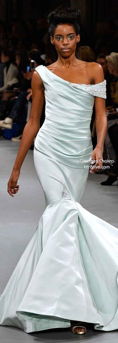 Georges Chakra Spring 2014 Couture.. Beautiful mint green.
