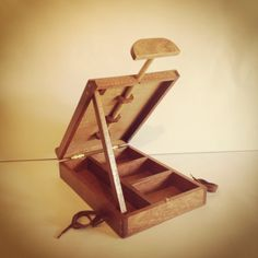 Handmade portable artists box that doubles as a by ChefintheShed, $130.00