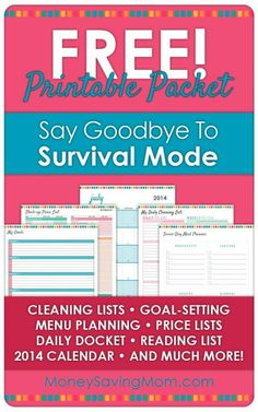FREE Printable Household Management Pack