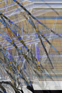 Ursprünglich Masten und Takelage eines Segelschiffs, jetzt überlagernd von Strukturen und Farben. DigitalArt 2