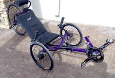 This sweet candy purple Catrike Expedition was made by Utah Trikes - Check out our custom color shop and pick out a color for your trike!