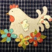 Hen Applique Pattern - via @Craftsy
