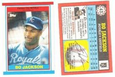1989 Topps Oddball UK Baseball Card Bo Jackson by Topps Baseball. $9.99. Card is from the 1989 Topps American Baseball Set released for the UK/England/Europe market. Only released in a limited wax box form. No factory sets were made.