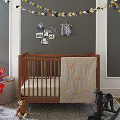 Alphabet Themed Crib Bedding   The Land of Nod